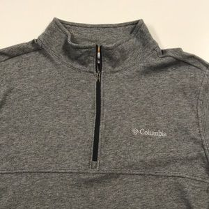 COLUMBIA Mens Large 1/4 Zip Pullover Shirt